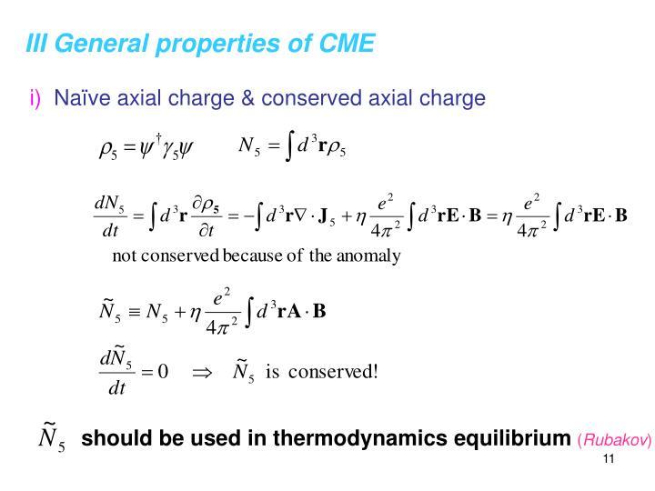 III General properties of CME