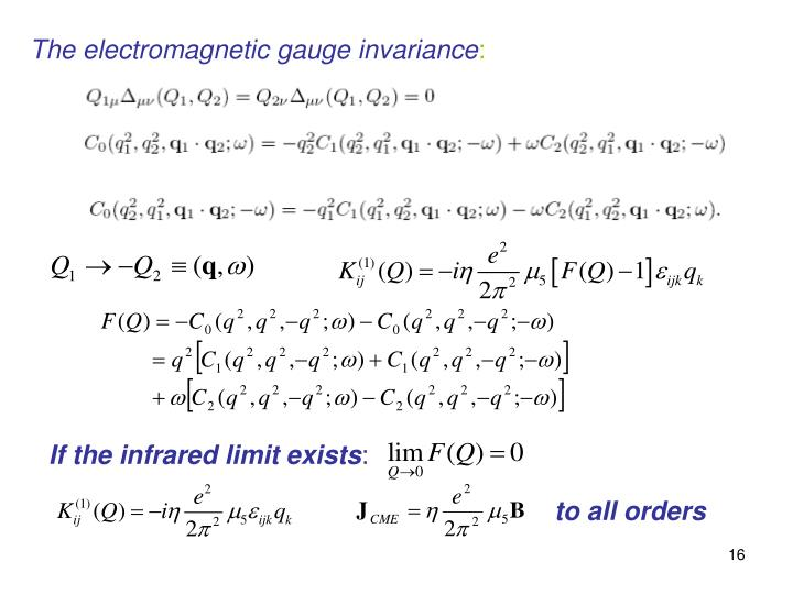 The electromagnetic gauge invariance