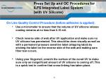 press set up and qc procedures for ilfs integrated label system with uv silicone2