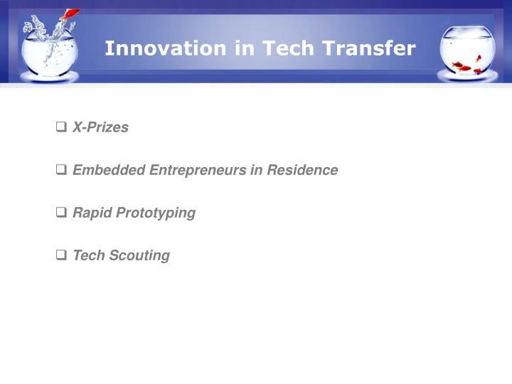 Innovation in Tech Transfer