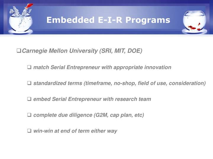 Embedded E-I-R Programs