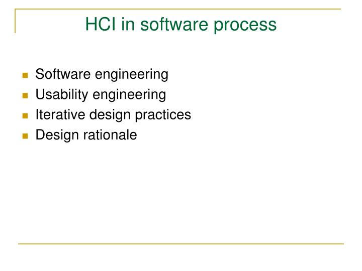 HCI in software process