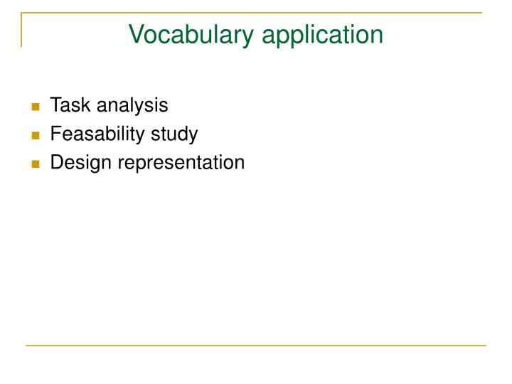 Vocabulary application