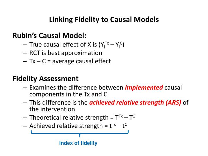 Linking fidelity to causal models