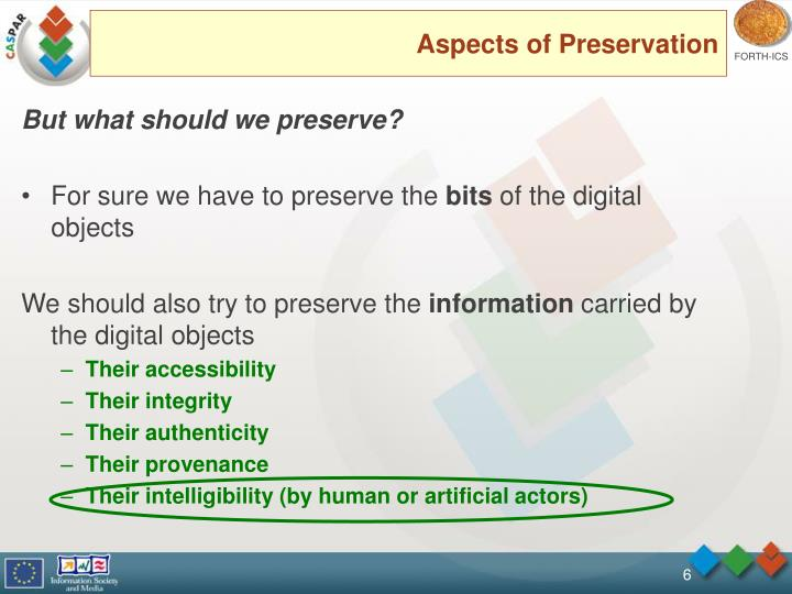 Aspects of Preservation