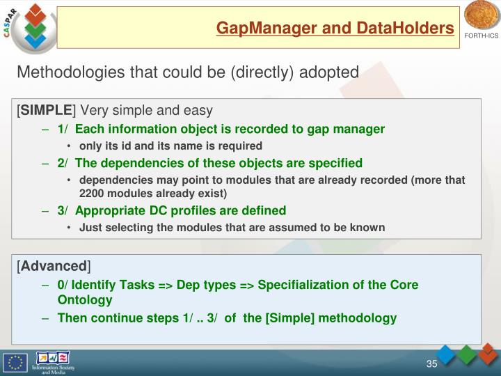GapManager and DataHolders