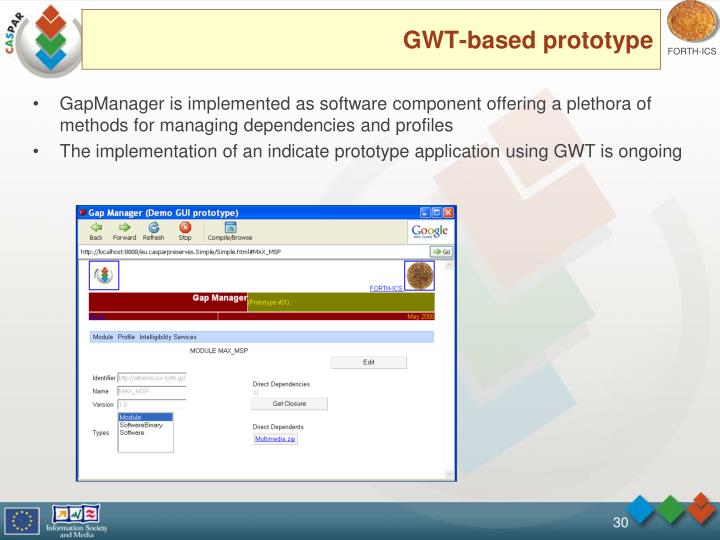GWT-based prototype