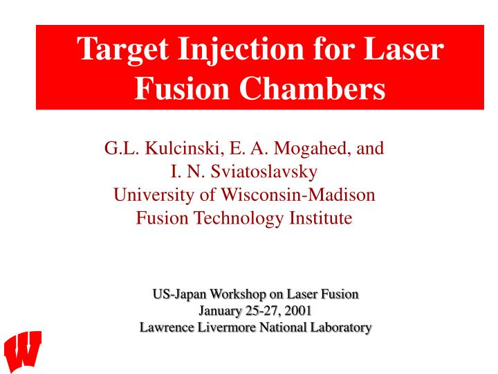 Target Injection for Laser Fusion Chambers
