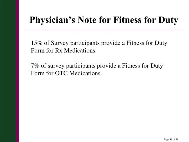 Physician's Note for Fitness for Duty