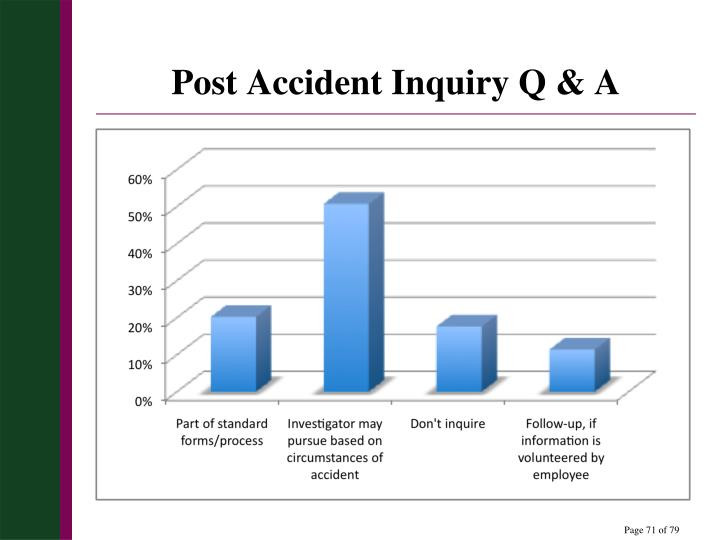 Post Accident Inquiry Q & A