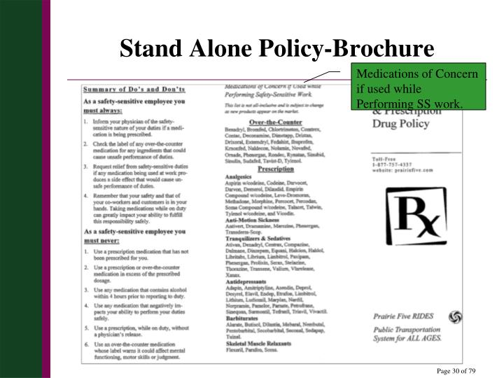 Stand Alone Policy-Brochure
