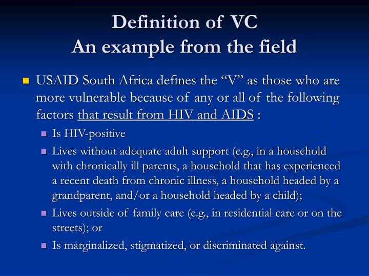Definition of VC