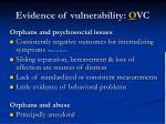 evidence of vulnerability o vc1