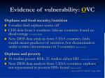 evidence of vulnerability o vc3