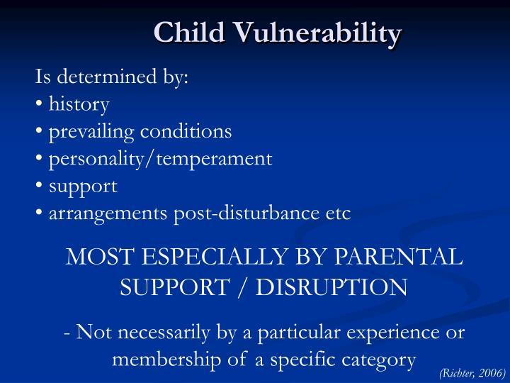 Child Vulnerability