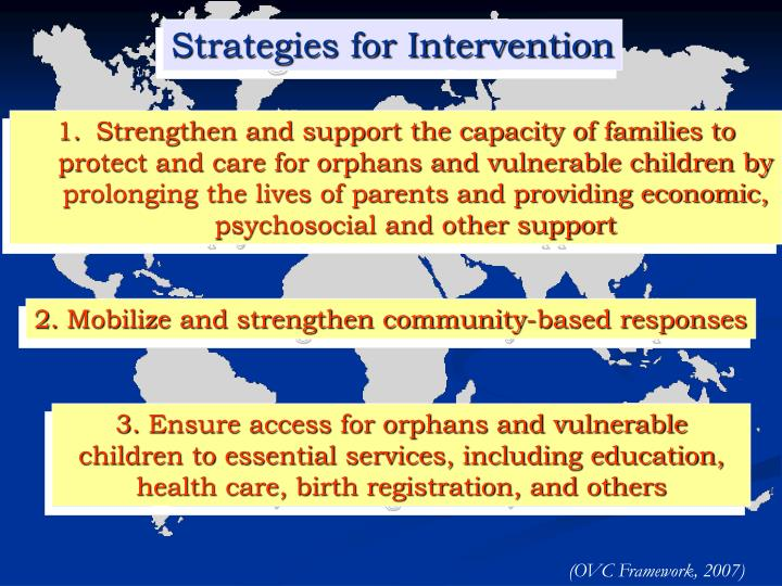 Strategies for Intervention