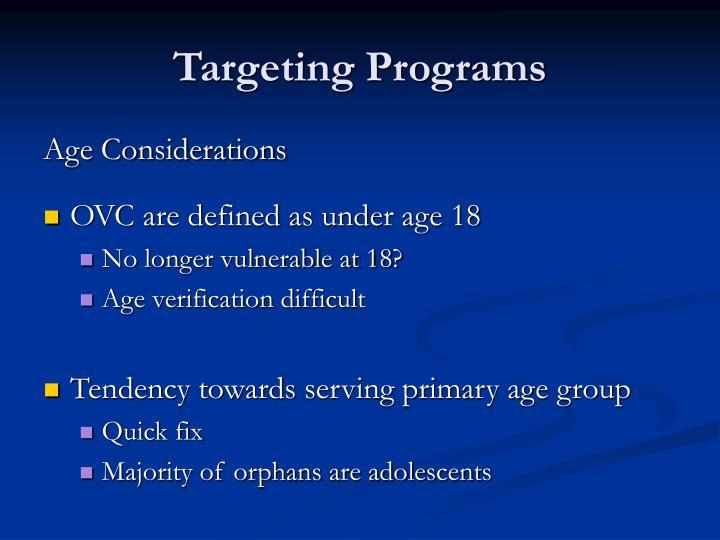 Targeting Programs