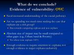 what do we conclude evidence of vulnerability ovc1