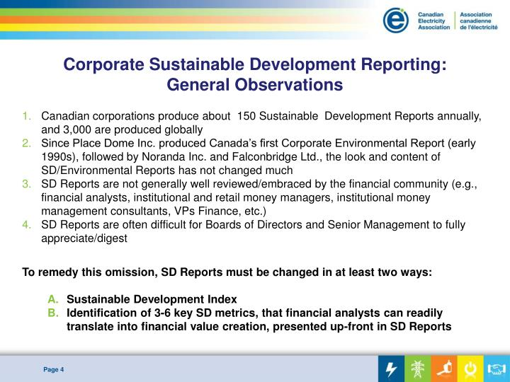 Corporate Sustainable Development Reporting: