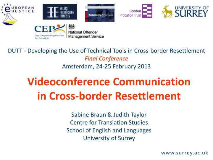 DUTT - Developing the Use of Technical Tools in Cross-border Resettlement