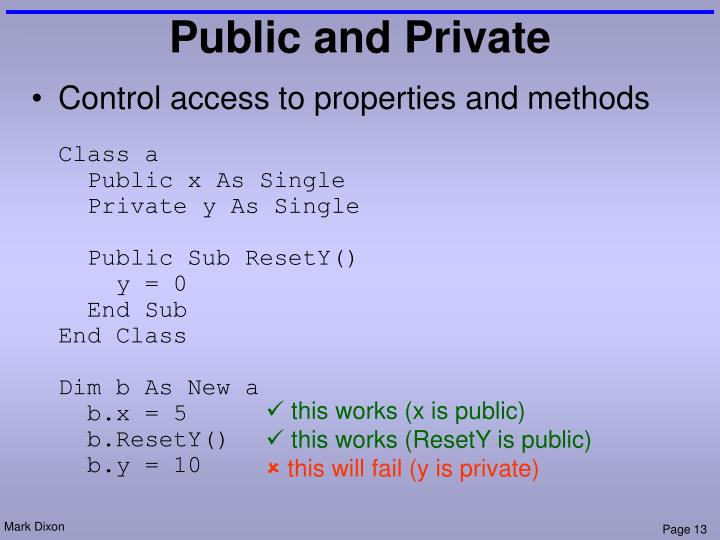 Public and Private