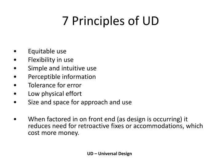 7 Principles of UD