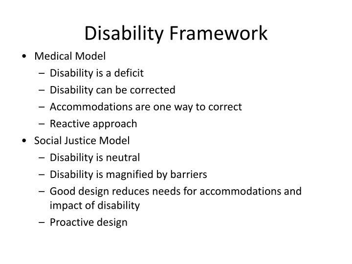 Disability Framework