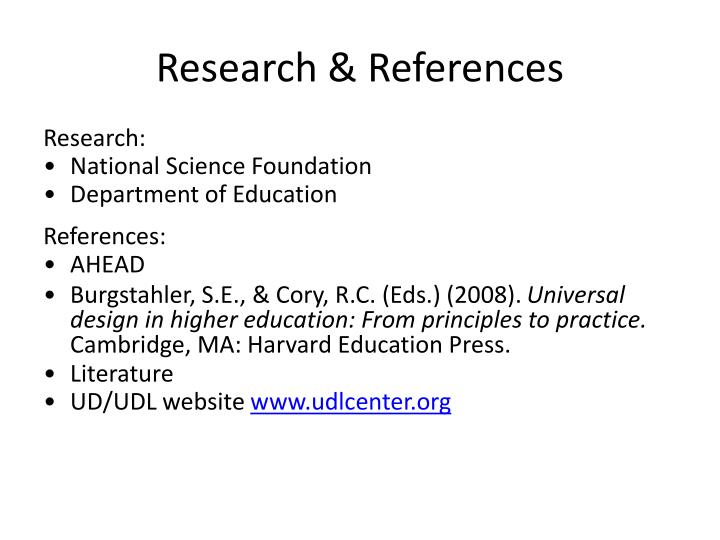 Research & References