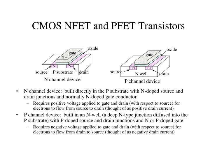 CMOS NFET and PFET Transistors
