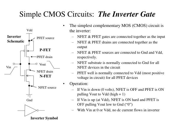 Simple CMOS Circuits: