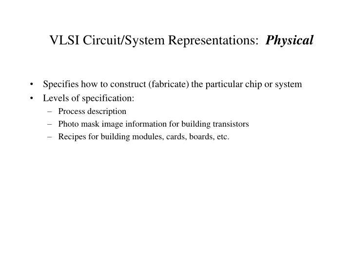VLSI Circuit/System Representations: