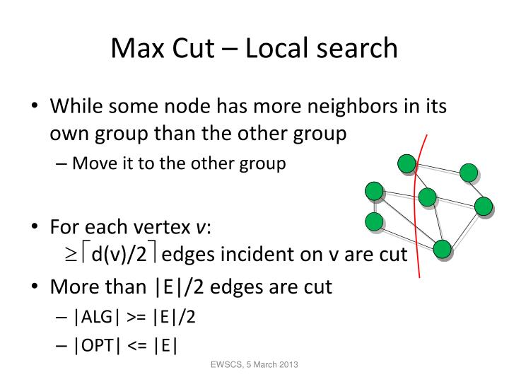 Max Cut – Local search