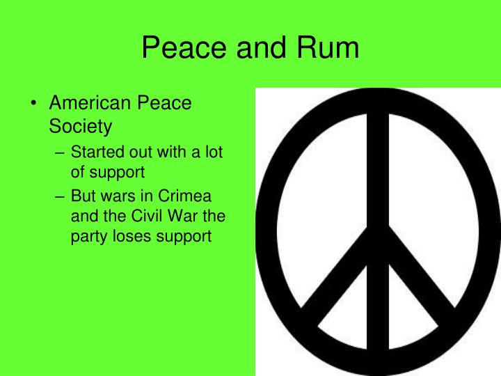 Peace and Rum