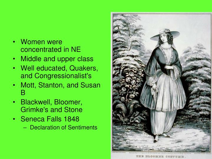 Women were concentrated in NE