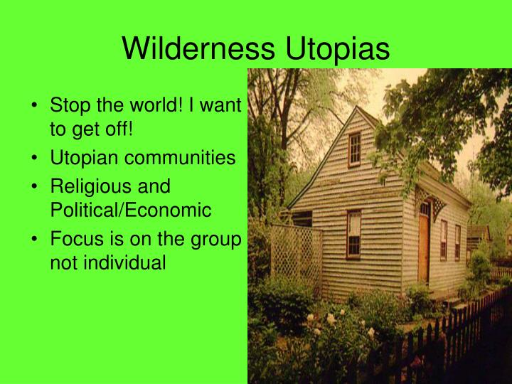 Wilderness Utopias