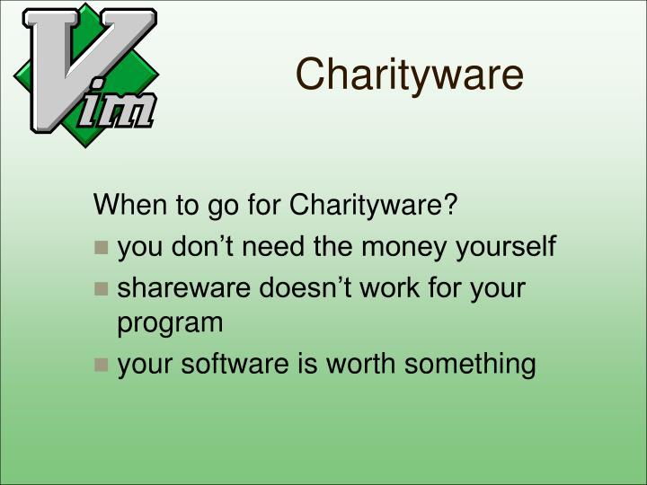 Charityware