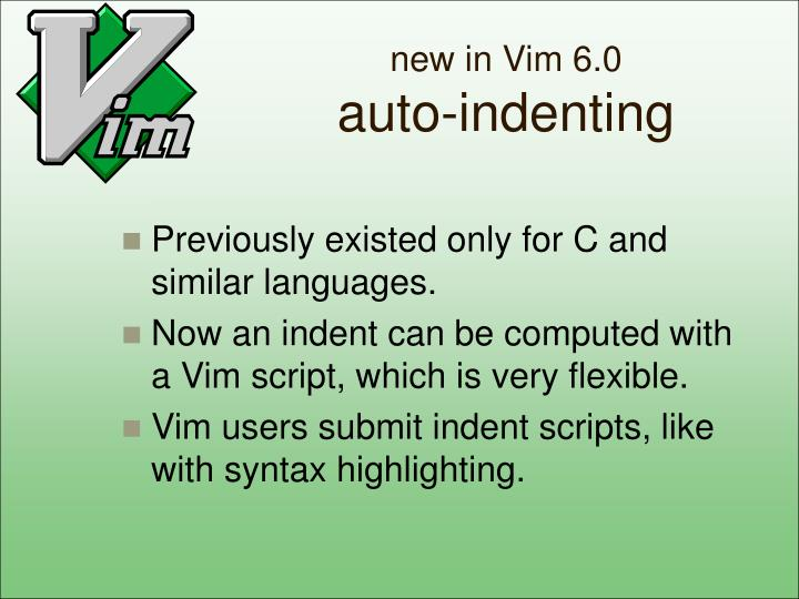 new in Vim 6.0