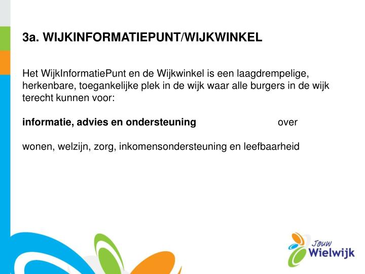 3a. WIJKINFORMATIEPUNT/WIJKWINKEL
