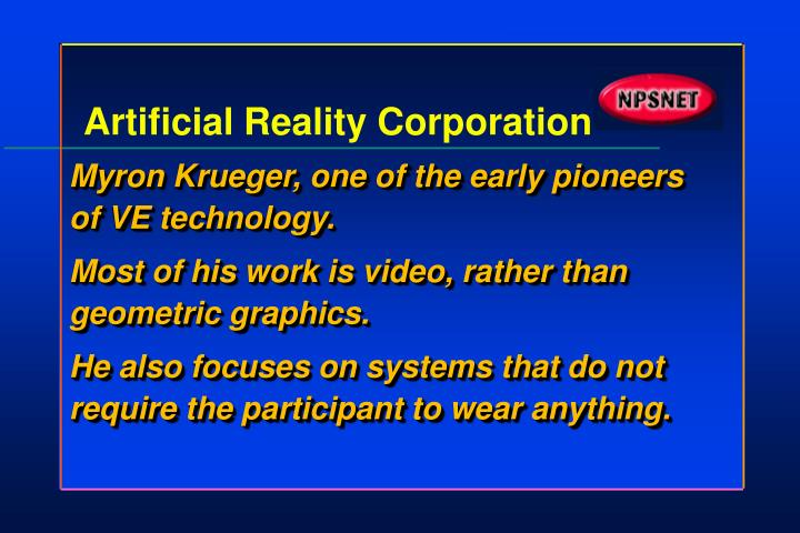 Artificial Reality Corporation