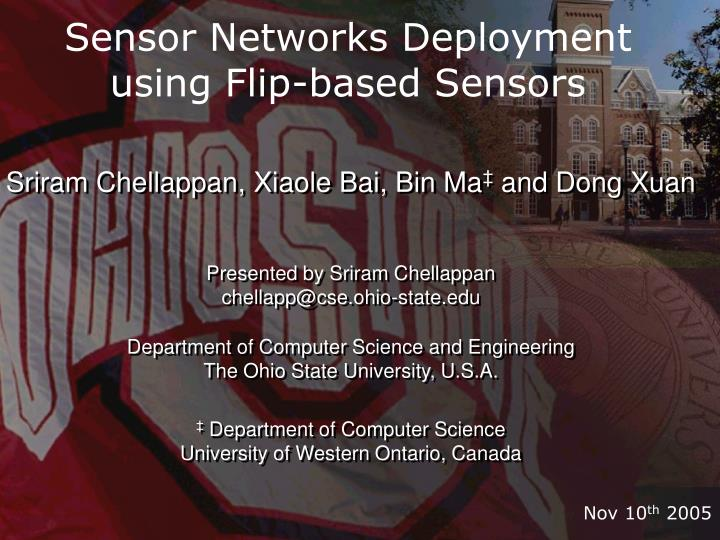 Sensor networks deployment using flip based sensors