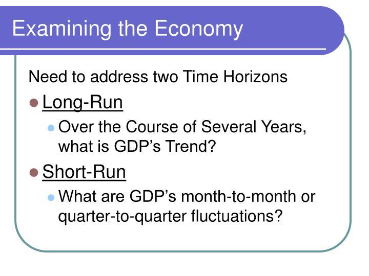 Examining the Economy