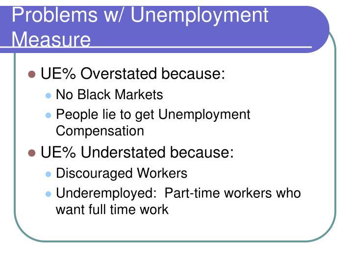 Problems w/ Unemployment Measure