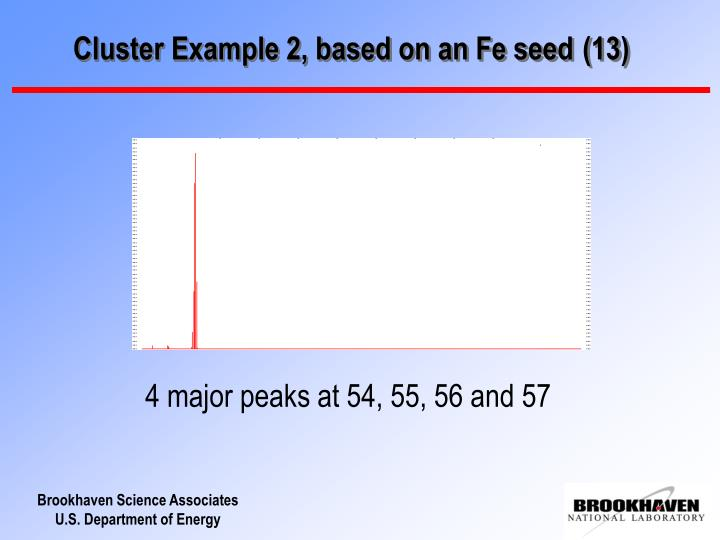 Cluster Example 2, based on an Fe seed