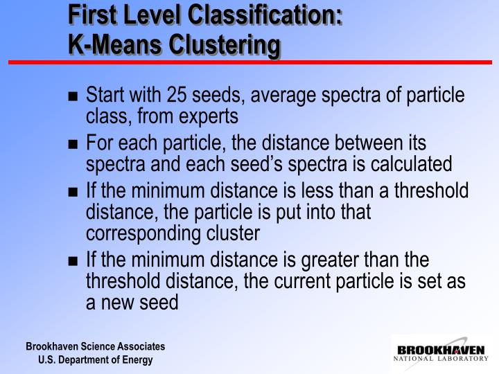 First Level Classification: