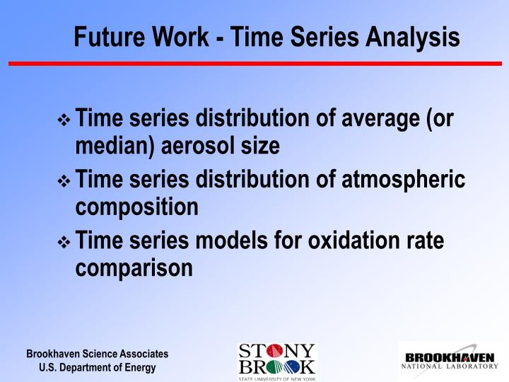 Future Work - Time Series Analysis