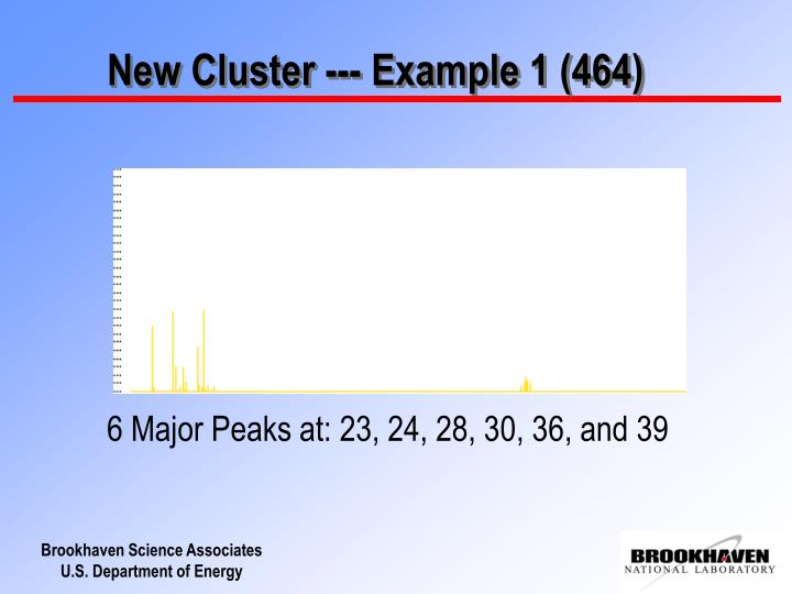 New Cluster --- Example 1 (464)