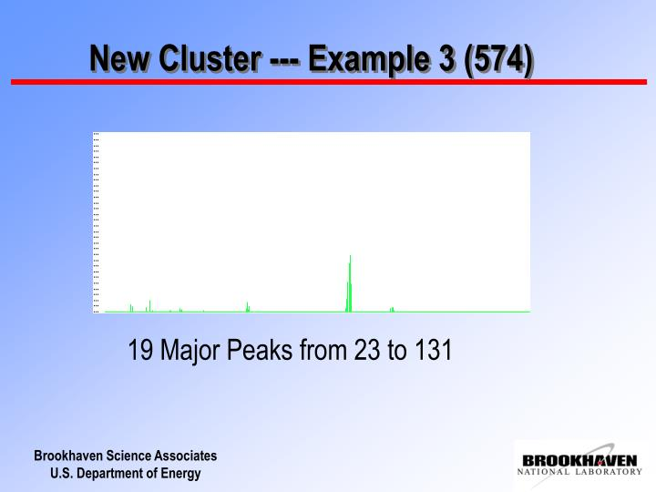 New Cluster --- Example 3 (574)
