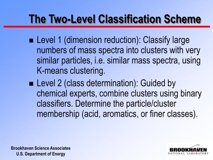 The Two-Level Classification Scheme