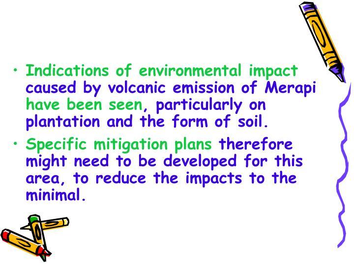 Indications of environmental impact