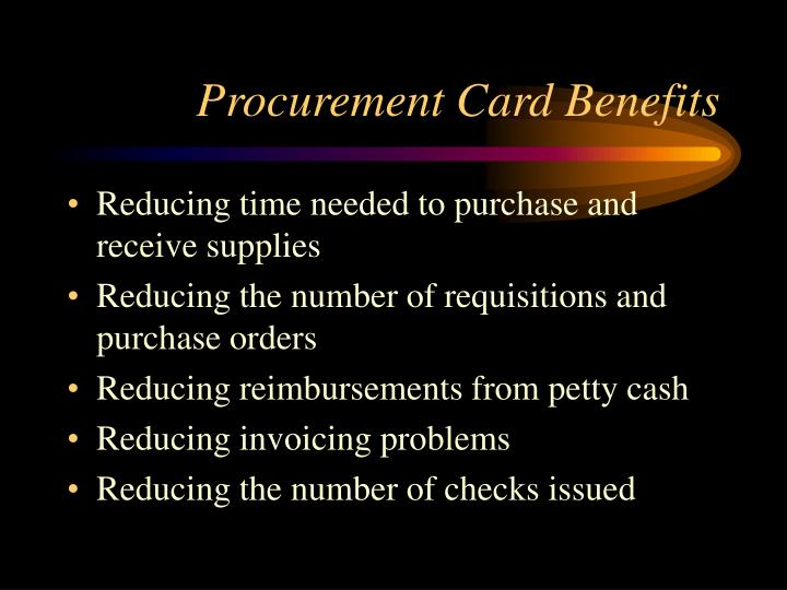 Procurement Card Benefits
